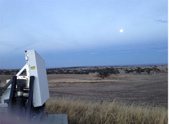Phased Array Weather Radar Deployed for Fighting Brushfires
